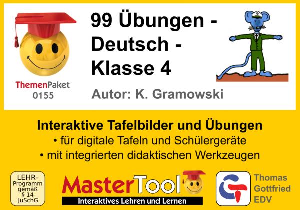 MasterTool - 99 Übungen - Deutsch - Klasse 4 (TP 155)
