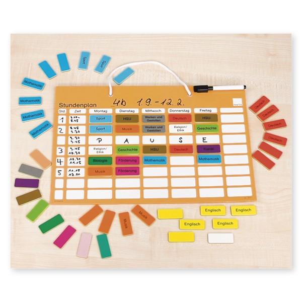 Stundenplan-Tafel magnetisch, ca. 41 x 28 cm
