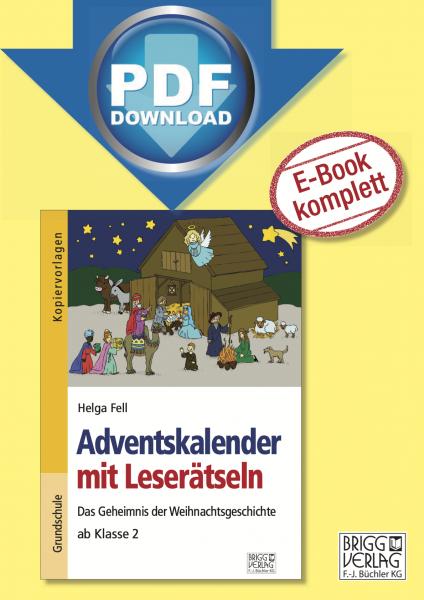 Adventskalender mit Leserätsel ab Klasse 2 Print oder E-Book