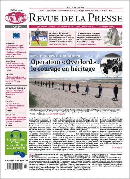 Revue de la Presse Jahresabo PRINT (12 Ausgaben)