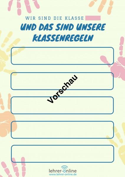 Poster für Klassenregeln