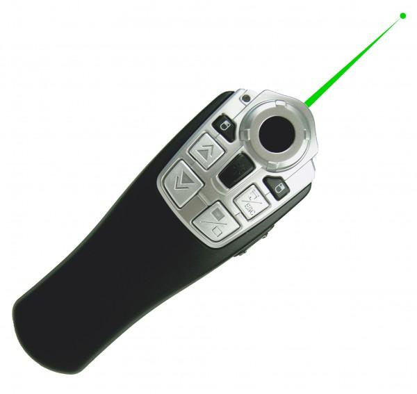 """Laser-Pointer """"grün"""" mit Funk-Maus"""