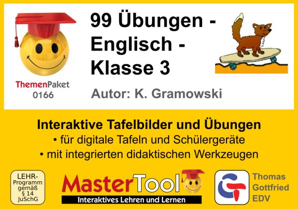 MasterTool - 99 Übungen - Englisch - Klasse 3 (TP 166)