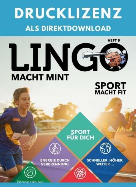 Lingo macht MINT Drucklizenz 9 Sport macht fit
