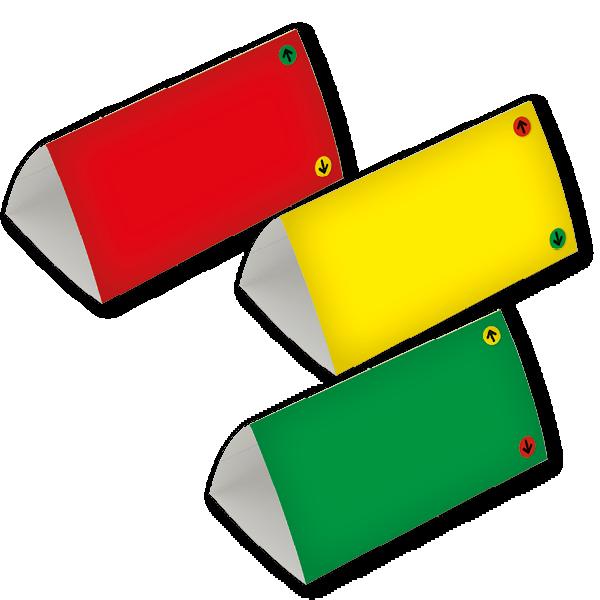 Set Ampel-Tischkarten, 3-seitig, 10-tlg.