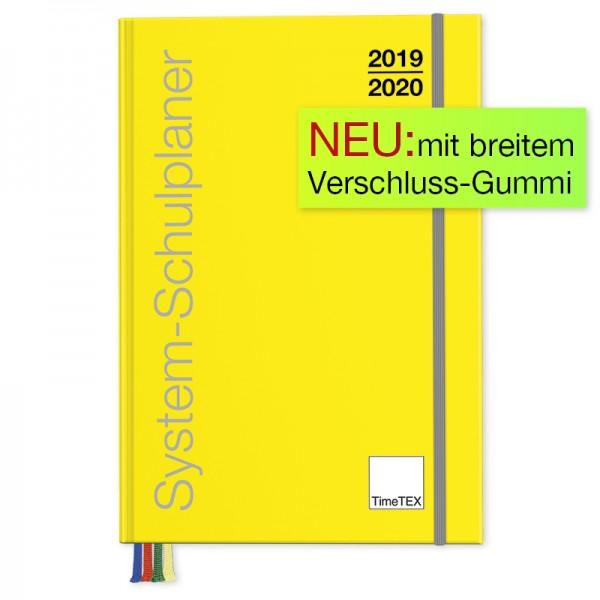 System-Schulplaner A5-Plus, gelb 2019/2020