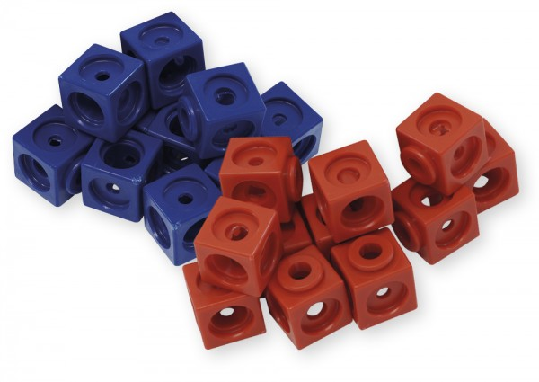 Set Demo-Steckwürfel magnetisch, 3,4 cm, 20 Stk. im Polybeutel