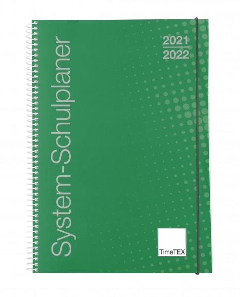 System-Schulplaner A5. grün 2021/2022