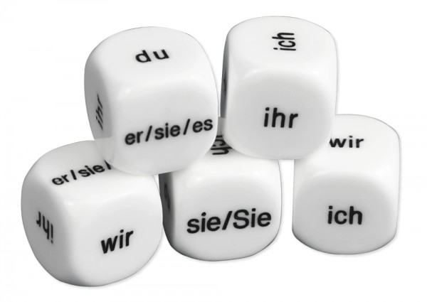 "Würfel-Set Deutsch ""Personalpronomen"" 5-tlg., 16 mm"