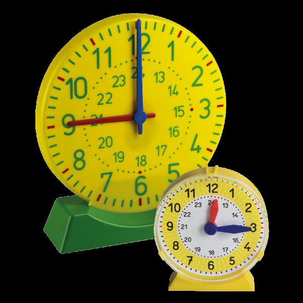 Lern-Uhren-Satz 1-24, 25-tlg. im Koffer