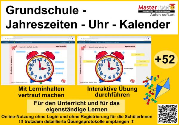 Interaktives Themenpaket Jahreszeiten - Uhr - Kalender (TP12)