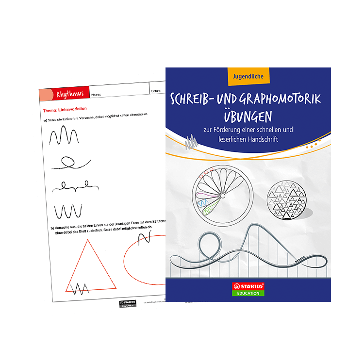 STABILO | Schreib- und Graphomotorik Übungen für Jugendliche im Unterricht (E-Book/PDF zum Downloa
