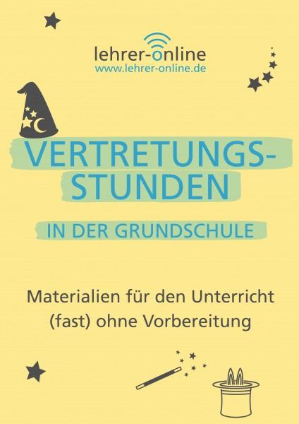 Vertretungsstunden: Arbeitsblätter für die Grundschule