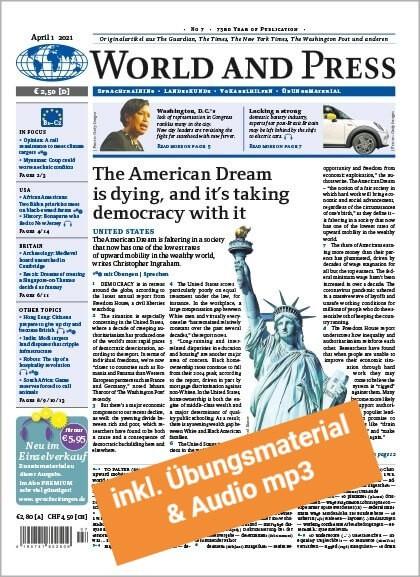 World and Press Jahresabo PREMIUM (22 Ausgaben + digitales Unterrichtsmaterial)