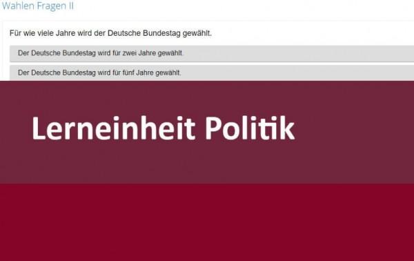 Interaktive Lerneinheit Politik Grundlagen des politischen Systems: Wahlen 11.