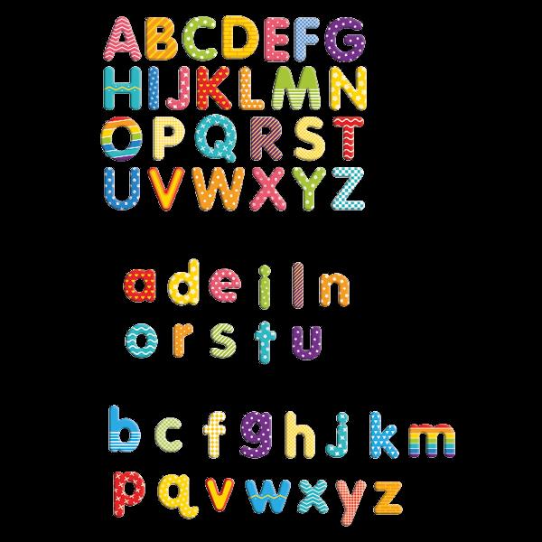 Magnet-Buchstaben in Box, ca. 45x45 mm, 100-tlg.