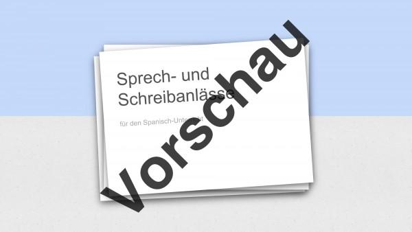Präsentation mit 69 Folien: Sprech- und Schreibanlässe für den Spanischunterricht