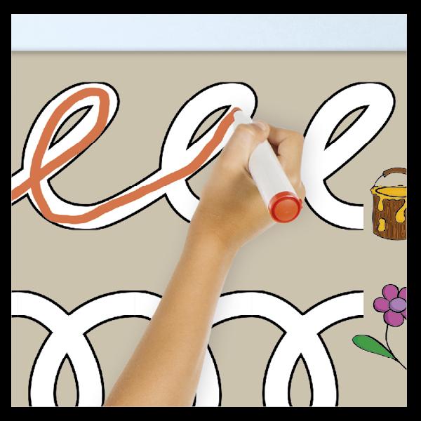 Whiteboard-Demo-Schwungübungen, magnetisch, 2-tlg.