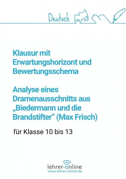 """Klausurvorschlag + Bewertung: Drama """"Biedermann und die Brandstifter"""""""