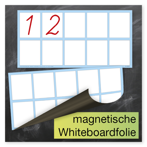 Whiteboard-Demo-Rechenkästchen, magnetisch, 2-tlg