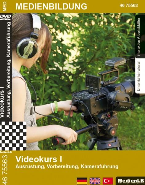 Videokurs I - Ausrüstung, Vorbereitung, Kameraführung: DVD und Arbeitsmaterial