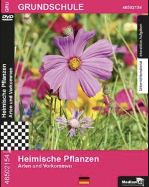 Heimische Pflanzen - Arten und Vorkommen: DVD mit Unterrichtsmaterial, interaktiven Übungen