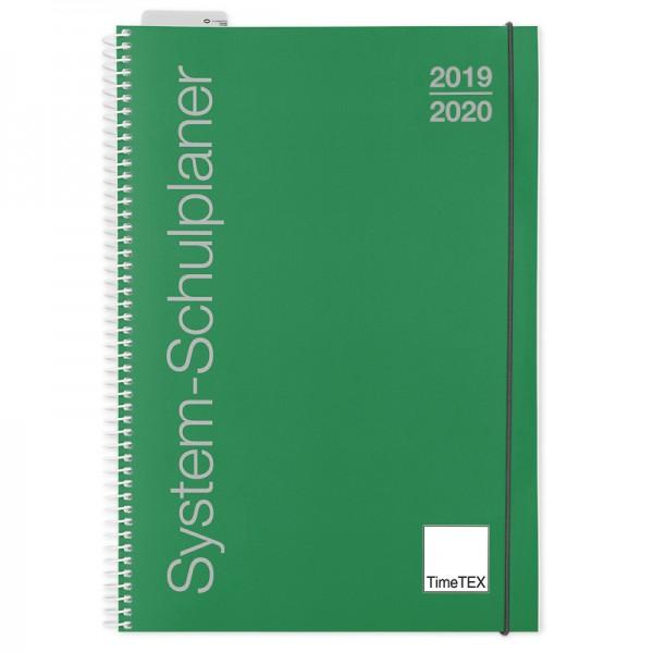 System-Schulplaner A4. grün 2020/2021