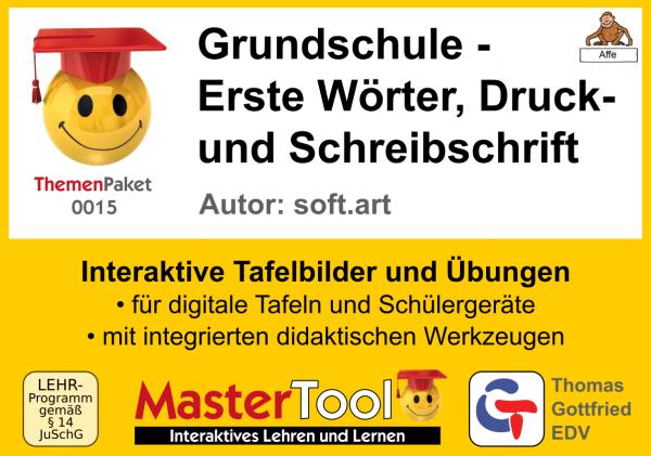 MasterTool - Grundschule - Erste Wörter, Druck- und Schreibschrift (TP 15)