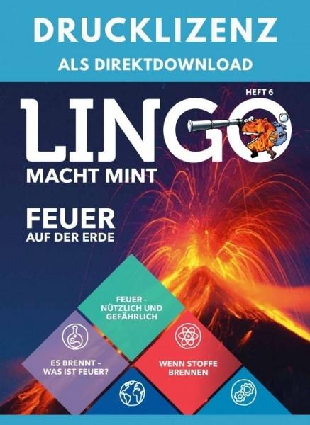 Lingo macht MINT Drucklizenz 6 Feuer auf der Erde