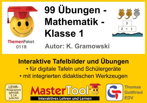 MasterTool - 99 Übungen - Mathematik - Klasse 1 (TP 118)