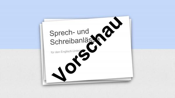 Präsentation mit 66 Folien: Sprech- und Schreibanlässe für den Englisch-Unterricht