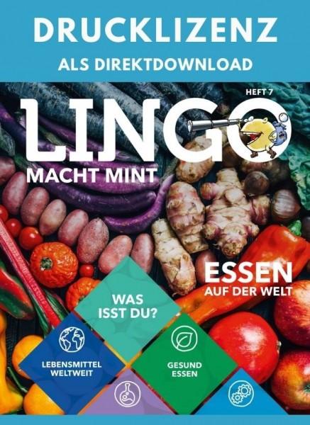 Lingo macht MINT Drucklizenz 7 Essen auf der Welt