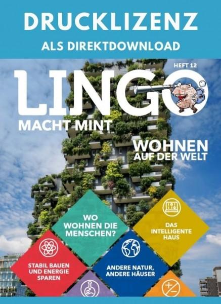 Lingo macht MINT Drucklizenz 12 Wohnen auf der Welt