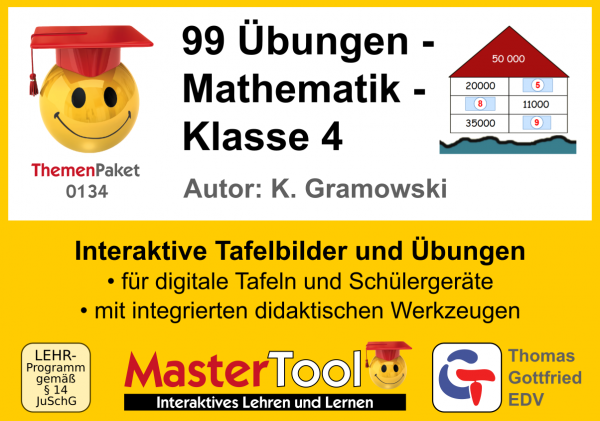 MasterTool - 99 Übungen - Mathematik - Klasse 4 (TP 134)