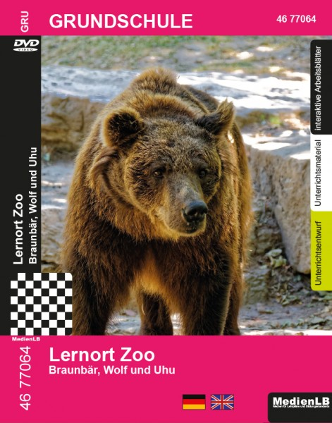 Lernort Zoo - Braunbär, Wolf und Uhu