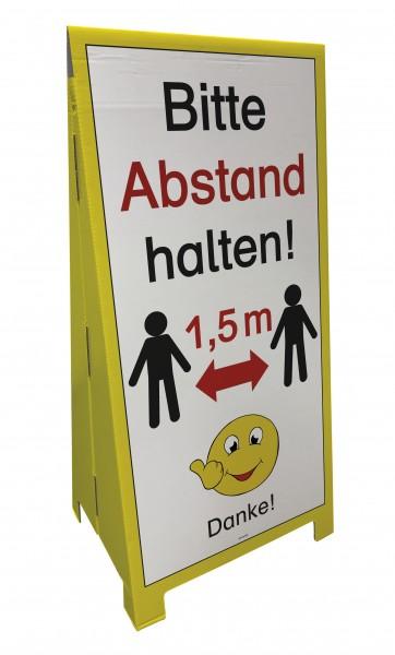 "Stand-Display ""Bitte Abstand - Danke"", 5-tlg."