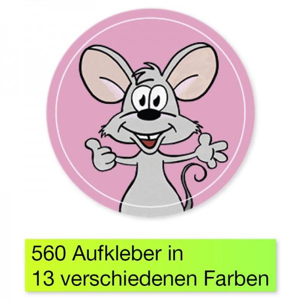 """Belobigungs-Aufkleber """"Maus"""", 560 Stk., 19 mm ø"""