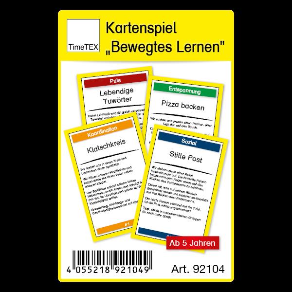 """Kartenspiel """"Bewegtes Lernen"""" 60-tlg. im Etui"""