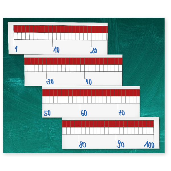 Demo-Zahlenstrahl-Rechenband magnetisch, 2m, 1-100