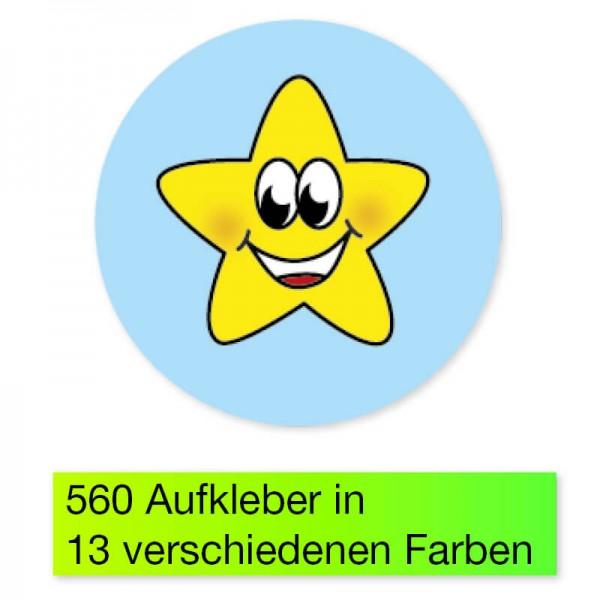"""Belobigungs-Aufkleber """"Sternchen bunt"""", 560 Stk."""