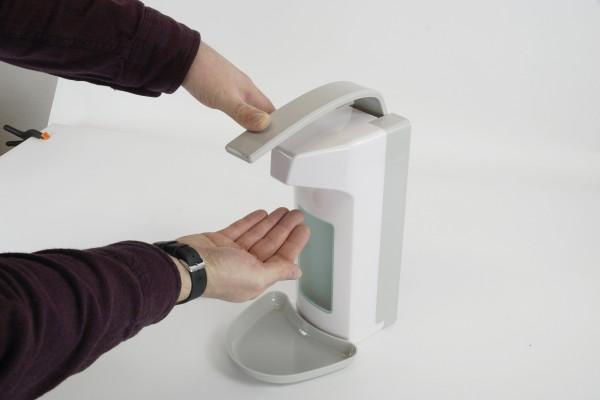 Wand-Desinfektions-Spender, mit Auffangschale
