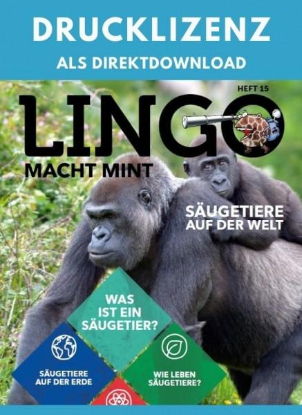 Lingo macht MINT Drucklizenz 15 Säugetiere auf der Welt