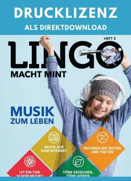 Lingo macht MINT Drucklizenz 3 Musik
