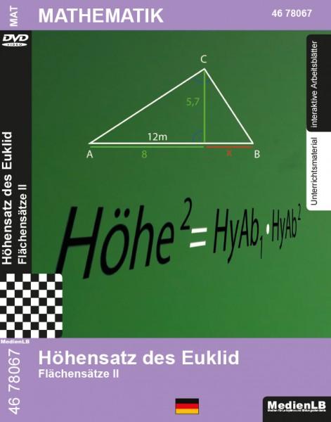 Höhensatz des Euklid - Flächensätze II
