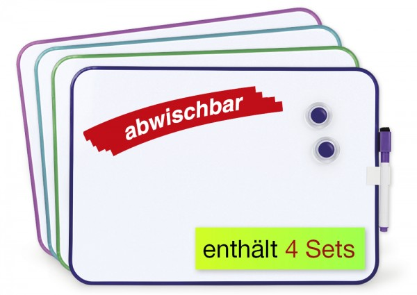 Set Gruppenarbeit-Whiteboard A4-Plus, 16-tlg.
