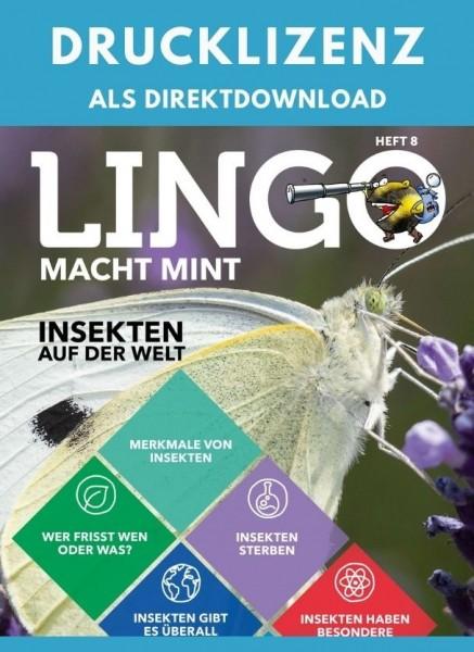 Lingo macht MINT Drucklizenz 8 Insekten auf der Welt