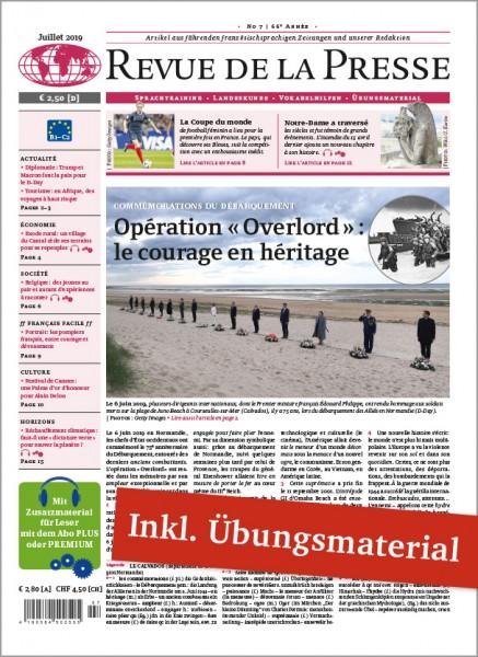 Revue de la Presse Jahresabo PREMIUM (12 Ausgaben + digitales Unterrichtsmaterial)